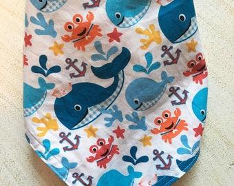 Sea life print bandana