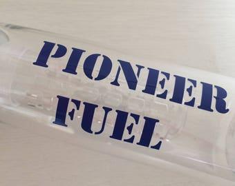 Personalised Pioneer fuel water bottle