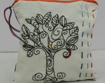 Bag-case with embroidery of the Tree of Life