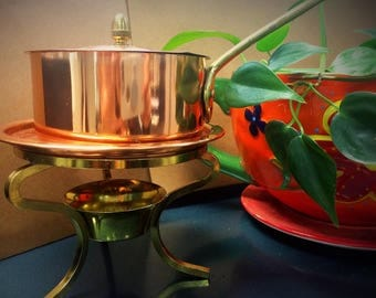 Vintage Brass Fondue Pot