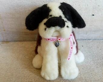 Needle Felted Dog, Dog Sculpture, Needle Felted St. Bernard, Needle Felted Puppy