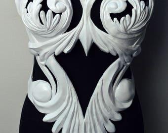 white baroque corset