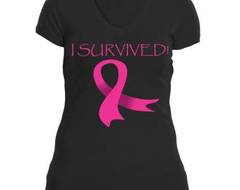 Breast Cancer Awareness Tee - I Survived