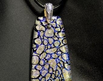 Layered Rocks Glass Pendant