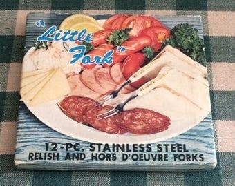 Serving Forks, Little Serving Forks, Relish and Hor D'oeuvre Forks, Serving Forks, Party Forks, Meat and Cheese Forks, Vintage Serving Forks