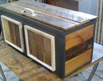 Upcycled Pallet Chest, Footlocker, Trunk