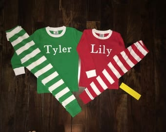 Christmas Pajamas, XMAS PJS, Christmas PJs, XMAS Pajamas, Childrens Christmas Pajamas