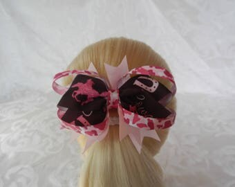 Cowgirls Rule Stacked Hair bow