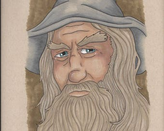 Gandalf the Gray Marker Sketch