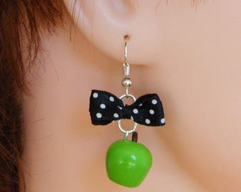 Apple earrings polymer clay