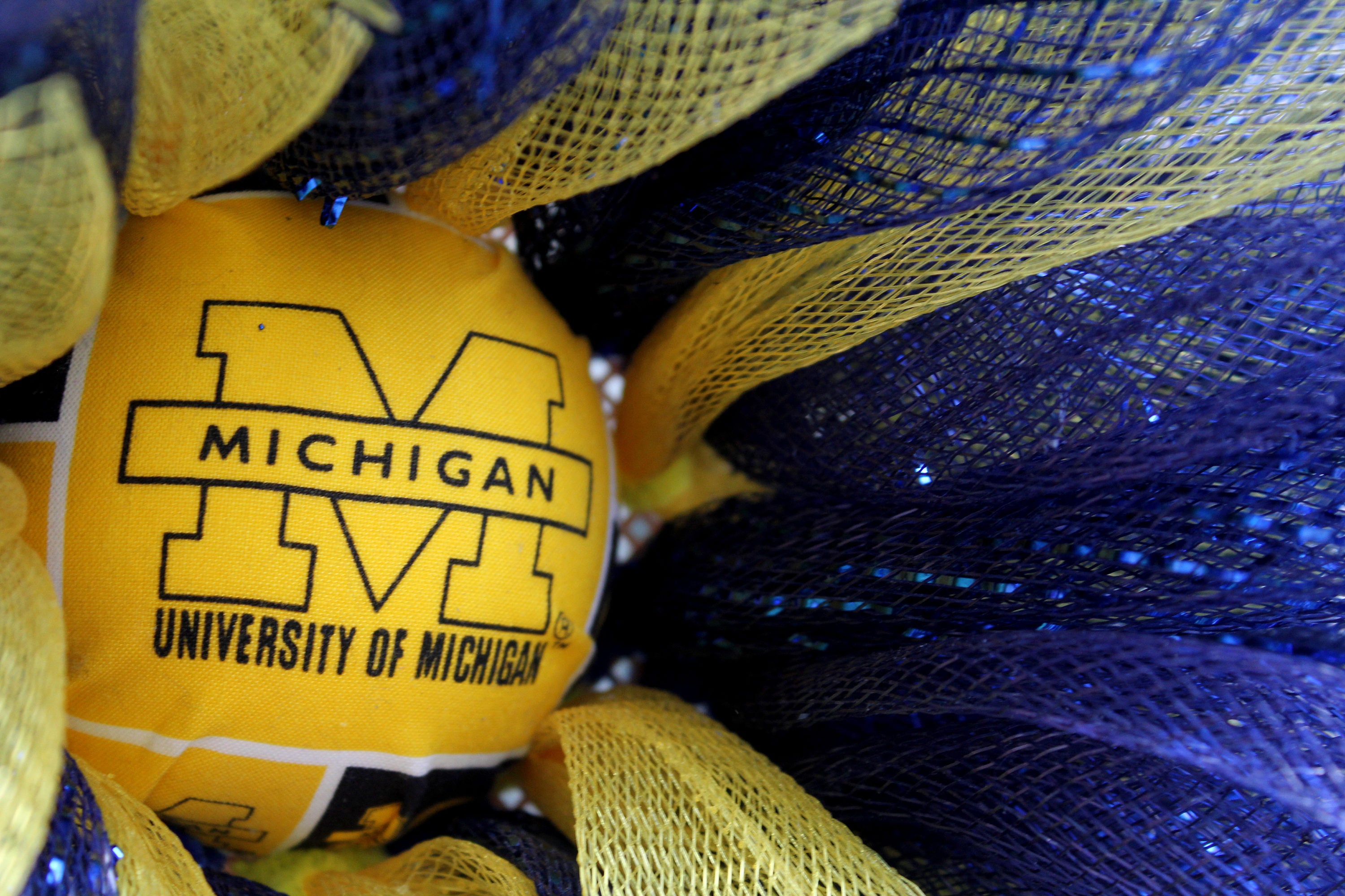 NFL Wreath, Michigan Wolverines Football Wreath, Wall Decor, Front ...