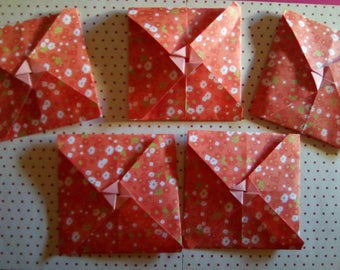 Set of mini envelopes origami (origami envelopp)
