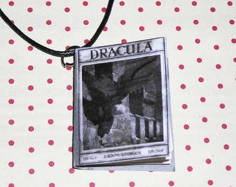 Book necklace Dracula Bram Stocker (book necklace)