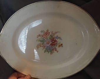 "13"" Oval Serving Platter by Homer Laughlin"