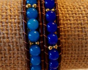 Harry Potter Ravenclaw blue and gold wrap bracelet