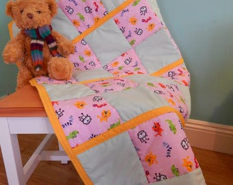 Cot Quilt/Baby Quilt/Baby Bedding/Patchwork Quilt/Play Mat/Cot Throw