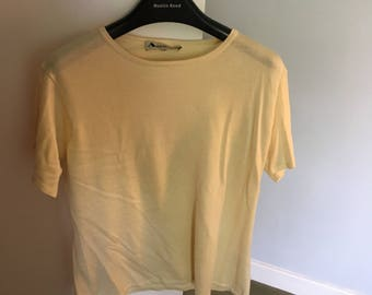 Aquascutum pale yellow top