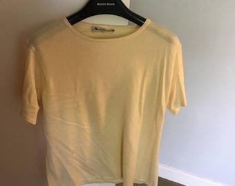 Aquascutum pale yellow top