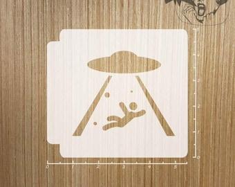 Alien Abduction 783-469 Stencil