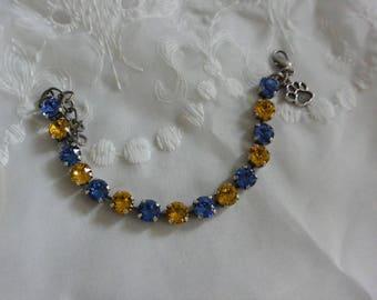 Swarovski Blue & Gold Crystal Bracelet