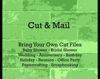 Cut & Mail Service - Cut Out My Cut File - Cut Out My Stencil - Custom Decorations - Custom Confetti