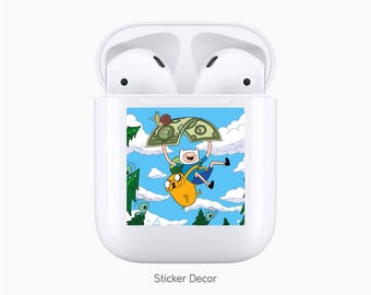 AirPods Case Stickers Adventure Time, Wraps, Skin, Cover, Decal