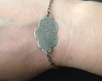 Woman or girl cloud bronze chain bracelet