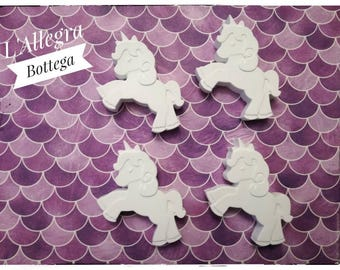 Chalks in the shape of a unicorn