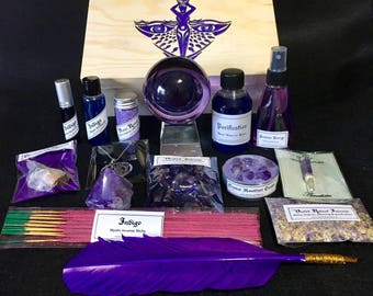 Set ALTAR VIOLET GODDESS Witchcraft Ritual Witches