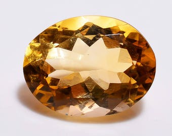 AAA Natural Citrine Faceted Oval Cut Beautiful Gemstones Citrine Jewelry Loose Citrine Stone Ring Size 15x11x8 mm Approx 8.10 Cts TZ 540
