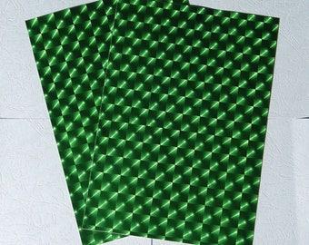 "1 sheet A4 adhesive ""Iris"" green hologram"