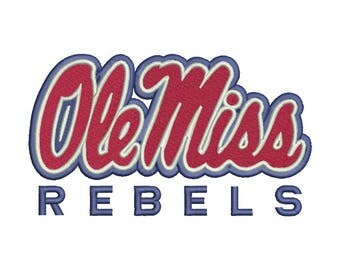 Ole Miss Embroidery Design - 5 SIZES