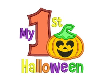 My 1st Halloween Applique Design - 3 SIZES