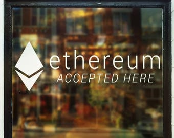 Ethereum Accepted Here Decal
