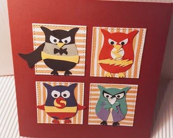 set of 3 cards double characters
