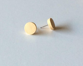 Natural coloured polymer clay studs