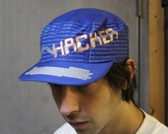 vintage 80s hacker computer nerd hat