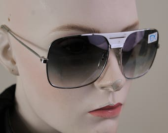 1980s silver metal framed sunglasses - new old stock