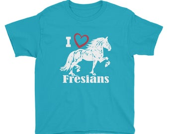 I Love Fresians Youth Short Sleeve T-Shirt