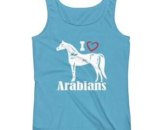 I Love Arabians Ladies Tank Top