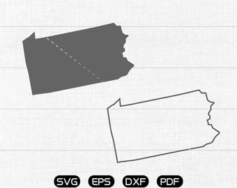 Pennsylvania SVG, State SVG Vector, PA Clipart, cricut, silhouette cut files commercial use