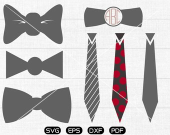 Tie Svg, necktie Clipart, Monogram Frame cricut, cameo, silhouette cut files commercial & personal use