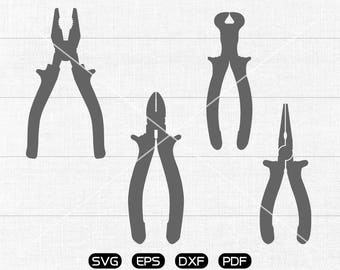 Pliers SVG, Pliers Clipart, cricut, silhouette cut files commercial use