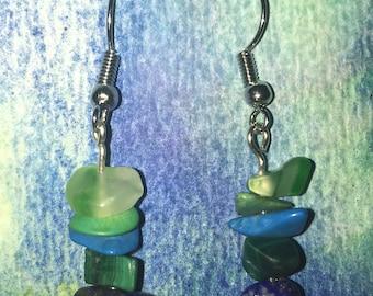 Aqua Ombré Earrings