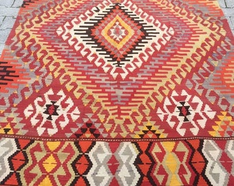 Vintage Turkish Rug Carpet Free Shipping