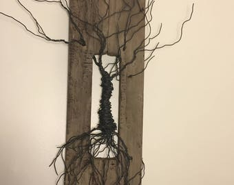 Wire and Wood Tree