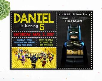 Editable PDF- Batman Lego Birthday Invitation, Lego Birthday Invitation, Superhero Birthday Invitation for Boys, Lego Invites,Justice league