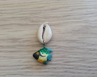 Shell and fish pendant