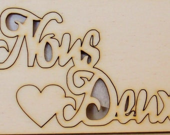 lot 2 words 391 us two and a small heart for your scrapbooking