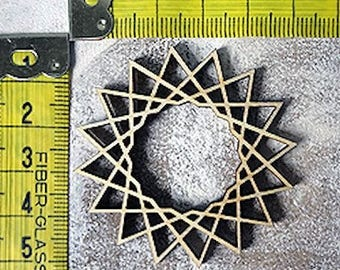 Rosette embellishment 364 wood for your creations